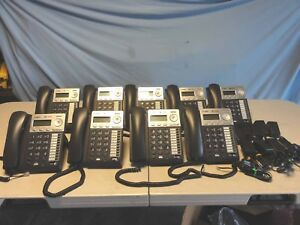 Lot 9x At t Synapse Sb67025 Cord voip Business Phone W ac Adapters Rj45 Cable