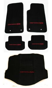 New Black Floor Mats 2010 2015 Camaro Embroidered Logo And Ss Red 5pc Set Trunk