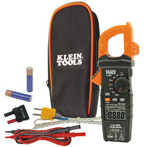 Klein Tools Cl800 Digital Clamp Meter Ac dc Auto ranging 600a Trms