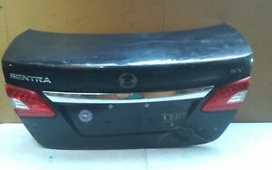 2013 2014 2015 Nissan Sentra Rear Trunk Lid Tailgate Lift Gate Oem Black