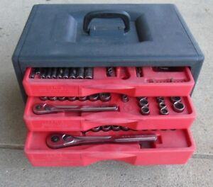 Used Crafstman Tool Box With Socket Set 102104 1 Eo Loc Aaa 3