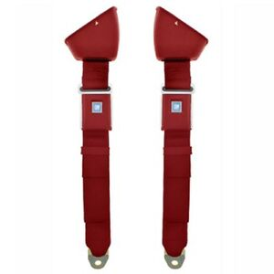 1968 72 Chevelle Retractable Lap Seat Belts Oe Style Flame Red