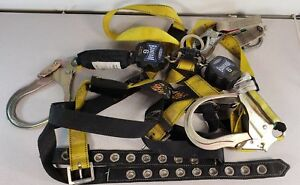 Set Of Guardian 01704 Fall Harness W Werner R430006 sr Twin Safety Lines