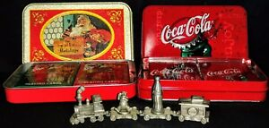 Vintage Coca Cola Playing Cards & Pewter Train N.O.S.