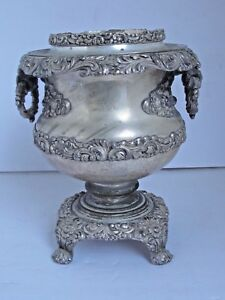 Antique Silverplate Champagne Wine Cooler Ice Bucket 19th C