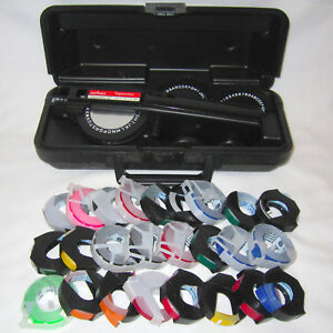Dymo Executive Iii 3 Tapewriter Labelmaker With Case 25 Rolls Of Colored Tape