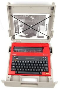 Super Rare Red Canon Typestar 5 Typewriter Dust Cover Manual