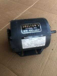 Westinghouse 1 6 Hp Electric Motor 1725 Rpm 110 V 115