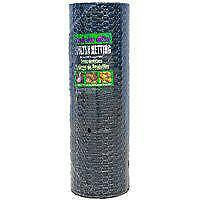 Jackson Wire 12016829 Poultry Netting 1 In Mesh Vinyl Coated Black