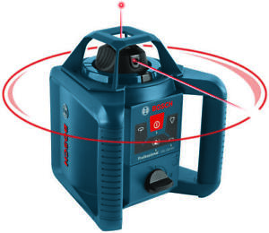 Bosch Grl245hvck Self leveling Rotary Laser Kit 1 8 In At 100 Ft 800 Ft Batte