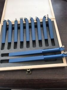 11 X 10mm 3 8 Lathe Tool Set Carbide Tip Metal Cutting Boring Bit Wooden Box