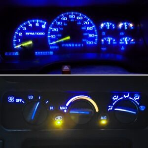 14 Royal Blue Led Kit For 1992 1999 Chevrolet Trucks Gauge Cluster