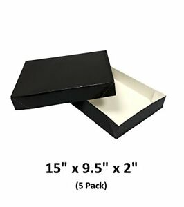 Black Apparel Decorative Gift Boxes 15x9 5x2 5 Pack Magicwater Supply