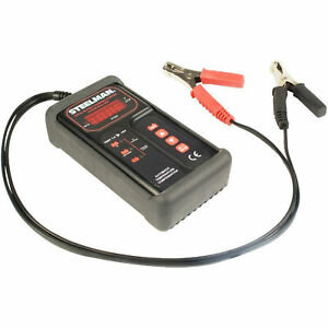 Steelman 97283 Black Digital Battery Charger Starter Analyzer