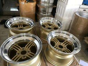 Jdm 15x9 Spokes 114 3x4 Wheels 240z Devil Shadow Ssr Watanabe Z31 S30 Ae86 S31