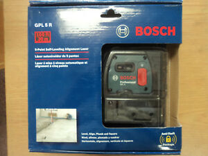 Bosch 5 Point Self Leveling Alignment Laser Level gpl 5 R