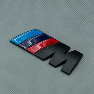 Matte Black Rear Trunk M Logo Emblem M Power Metal Sport Badge For M3 M4 M5
