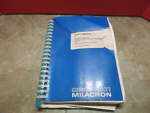 Cincinnati Milacron Sabre 500 Ert Computer Numerical 91202330 Parts Manual
