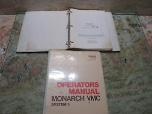 Monarch Vmc System 5 Operator S Manual Opr 5cm 5 Cnc Mill Each 1