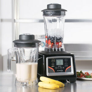 Commercial Blender 3 1 2 Hp W 2 64 Oz Containers Touchpad Control Adj Speed