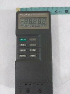 Fluke 52 K j Digital Dual Input Thermometer Works