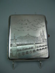 Antique Cigarette Case Russian Silver