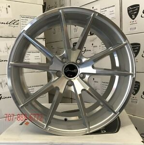 20 Giovanna Gianelle Davalu Silver Concave Wheels Rims Fits Ford Mustang 5x4 5
