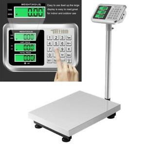 Heavy Duty Postal Parcel Platform Scales 660lb 300kg 50g Weight Computing