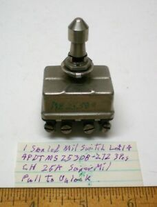 New Militarytoggle Switch Sealed 4pdt Cutlerh Ms25308 272 25 Amp Cont Lot 14 Usa