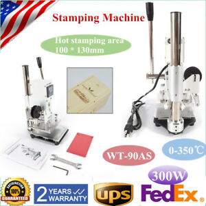 Wt 90as Digital Manual Stamping Machine Pvc Hot Foil Leather Plastic Bronzing