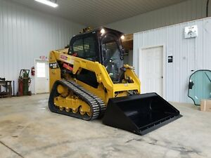 2016 Caterpillar 239d Compact Rubber Tracked Skid Loader W Backup Camera Cat