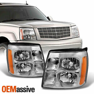 Fit 03 06 Cadillac Escalade Headlights Replacement Hid Xenon Type 2003 2006