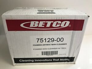 Betco 7512900 Clario Foaming Anti bacterial Skin Cleanser 1 Liter Case Of 6