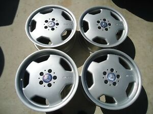 Set Of 4 Staggered Factory Amg Mercedes Mono Block Wheels Rims 17x7 5 17x8 5