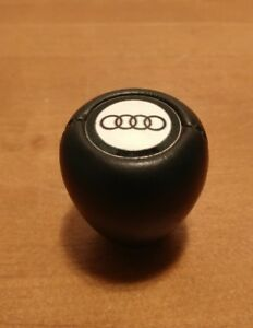 Audi Logo A4 Leather Covered Gear Shift Shifter Knob Black