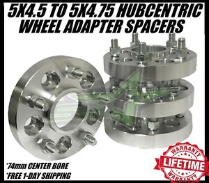 4 Wheel Spacers Adapters 5x114 3 To 5x120 1 Inch 1 2x20 Studs 5x4 5 To 5x4 75