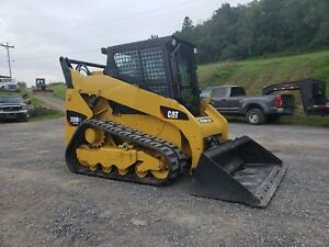 2011 Caterpillar 259b3 Compact Track Skid Steer Loader Diesel Cat 2 Speed Cab Ac