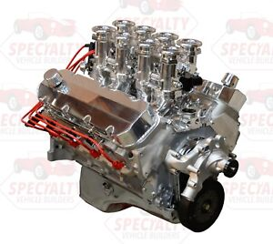 Big Block Chevy 496ci 600hp Crate Engine W Hilborn Style Efi Fuel Injection