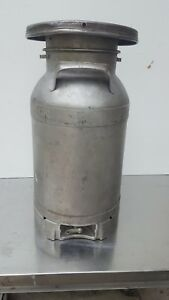 Vintage Stainless Steel United Dairies Detroit 20 Qt Milk Can Buhl