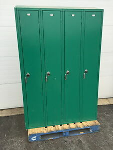 Used Penco Double Sided 8 person Lockers Green Purple Red