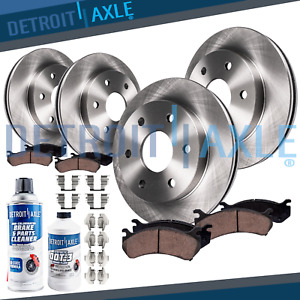 Front Rear Rotors Ceramic Pads For 2005 2015 2016 2017 Frontier Equator