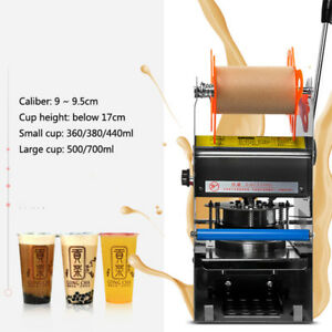 270w Automatic Electric Cup Sealer Sealing Machine Coffee Bubble Tea Cover Seal