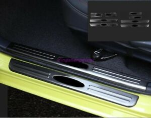 Inside Outside Welcome Pedal Door Sill Scuff Trim For Toyota Vios 2014 2018