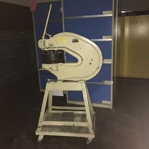 Rotex 18 a 18 Throat Hand Operated Turret Punch Press W Casters