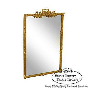Carvers Guild French Louis Xv Style Gilt Carved Beveled Wall Mirror
