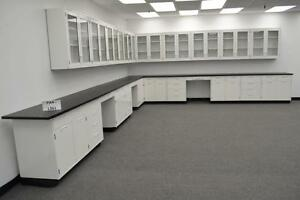 Hamilton Laboratory 34 Base Bench 29 Wall Cabinets With Tops Pa4 l361