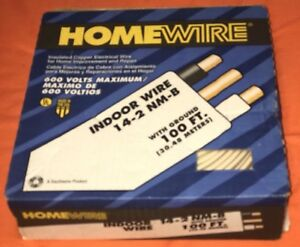 Southwire Homewire Nm b 600 Volts 100 Ft Indoor 14 2 Insulated Copper Wire White
