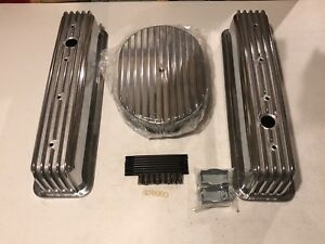 Sbc 12 Full Oval Tall Center Bolt Finned Engine Dress Up Kit No Breathers