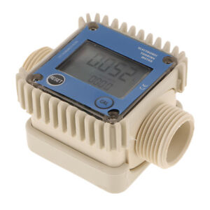 New Turbine Digital Fuel Chemicals Water Flowmeter Meter 1 External Thread