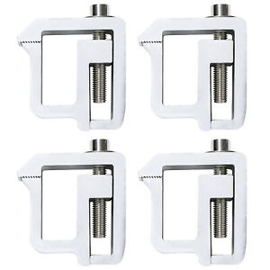 Set Of 4 Aluminum Pickup Truck Cap Topper Camper Shell Mounting Clamps Silver